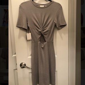 Aritzia Wilfred Free Taupe Twist Dress, NEVER WORN